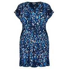 Plus Size Animal Print Like Blue Mix Tunic / MID DRESS Size 22 (Free Post)
