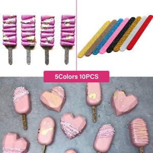 10pcs Acrylic Ice Cream Sticks Popsicle Stick Kids DIY Popsicle Sticks Mould SC