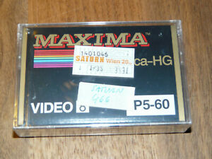Maxima Video 8 P5-60 Leerkassette Videokassette neu in Folie, vintage video tape