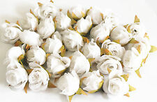 10pc white Multicolor Silk lace Flower Rose Head Wedding Party Decoration K