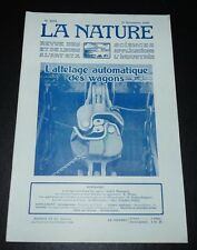 REVUE LA NATURE N°2694 1925 ATTELAGE WAGONS / CHEIROPTERES / COLLOÏDES
