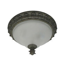 Tuscan Gold Flush Ceiling 2 Light Ceiling Fixture