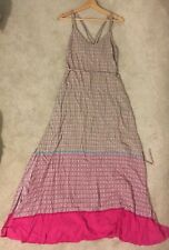 Gap Pink Yellow Patterned Strappy Maxi Dress New Medium Beach Holiday rrp 50