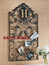 NEW HORCHOW FRENCH VICTORIAN ORNATE GOLD ACANTHUS PERSONALIZE WALL CARD HOLDER