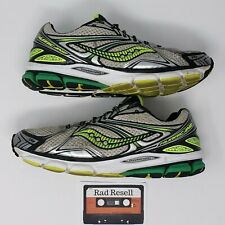 Saucony 16 HydraMax Hurricane Mens 11.5 Running Shoes Yellow Green Gray Silver