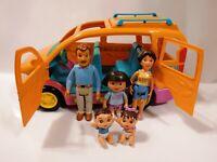Mattel Dora the Explorer Talking Vamanos Van with sounds 2003 + 5 Figures Works