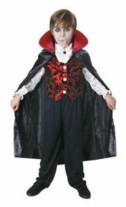 Childrens Deluxe Red & Black Halloween Vampire Fancy Dress Costume