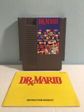 DRx Mario (Nintendo NES, 1985) With Instruction Booklet - Cleaned and Tested