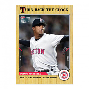 🛑 PEDRO MARTINEZ 2021 TOPPS NOW TURN BACK THE CLOCK #42 RED SOX (PRE-SALE)🔥