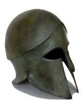 Helmet bronze aged Cornthian solid type artifact collectible ancient replica