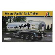 "Rimorchio cisterna ""we are family""Tank Trailer trasporto latte ITALERI 3911 1/24"