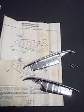 1958 CHEVROLET IMPALA NOS DOOR HANDLE GUARDS 2-DOOR