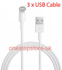 3 PACK USB CHARGING CHARGER CABLE LEAD i PHONE 5 5S 5C i PAD 4 AIR MINI i POD