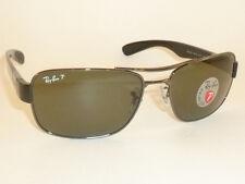 New  RAY BAN  Sunglasses  Gunmetal Frame  RB 3522 004/9A  Polarized Lenses  61mm