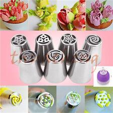 7pcs Russian DIY Pastry Cake Icing Piping Decorating Nozzles Tips Baking Tool