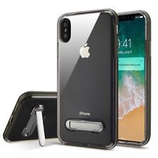 Clear Stand Case For Apple iPhone XS Max Hybrid Armor Bumper Rubber TPU Cover