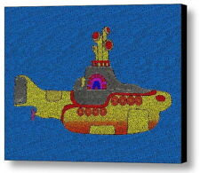 Yellow Submarine  Lyrics The Beatles AMAZING Mosaic Framed Print Limited Edition