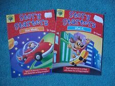 Set of 2 Teaching Tree Story Starters booklets First Second Reading Writing