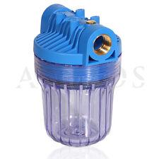 """5"""" Filtertasse Wasser vor Filter, Tauchgarten Pumpe, Hauswasserwerk 3/4"""" IG"""