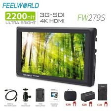 Feelworld FW279S 7'' Ultra Bright 2200nit On Camera Field Monitor 3G SDI 4K HDMI