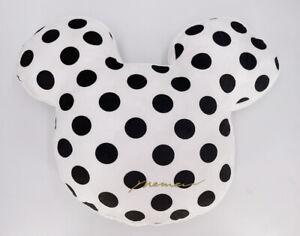 """Mickey 20"""" Doll Minnie Mouse Pillow Cushion White Polka-Dot Cute Plush Stuffed"""