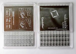 Valcambi Suisse Combibar 100 x1 gram 999 Fine Silver Bar Mint Sealed Certified!