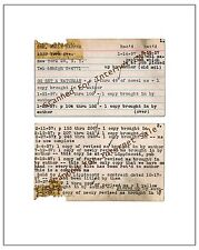 1957 Harper Lee  Go Set the Watchman Note Cards Photograph To Kill A Mockingbird