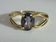 Really Stunning Certified Sri Lanka Iolite & 9K Gold Ring Size N