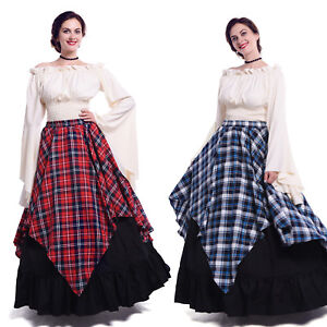 Renaissance Dress Women Peasant Medieval Costume Gown Tavern Wench Plus Size