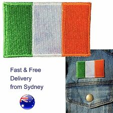 Ireland flag iron on patch Irish Tricolour Emerald Isle flags embroidery patches