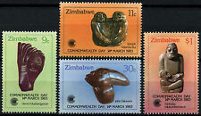 Zimbabwe 1983 SG#622-5 Commonwealth Day, Sculptures MNH Set #D50858