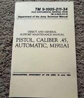 Vietnam Dated Colt .45 Auto ACP Pistol Tech. Manual M1911A1 64 Pages