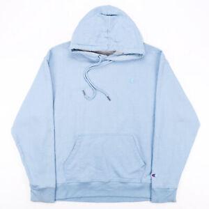 Vintage CHAMPION Blue 00s Pullover Hoodie Mens L