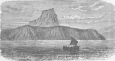 CENTRAL AFRICA. Mount Malommbi, Lake Tanganyika 1891 old antique print picture