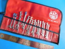 USED, MAC TOOLS  IGNITION WRENCH SET, LOT OF 16 WRENCHS & ONE KIT BAG, DOUBLES