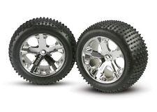 Traxxas 3770 Alias 2.8 Pin Tires Assembled on All-Star Mirror-Chrome Wheels