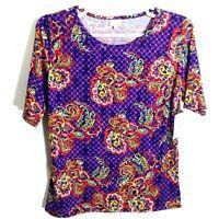 LuLaRoe NWT Womens Multicolor GiGi Short Sleave Top size 3XL