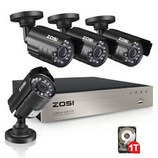 ZOSI 1080p 8CH HDMI DVR 720p Outdoor IR-Cut Home Security Camera System 1TB HDD