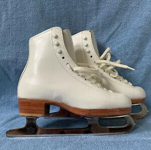 Riedell 375 Gold Star Figure Skates Size 1.5 Width Medium MK Blakes