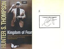 Hunter S. Thompson~Kingdom of Fear~SIGNED~True 1st/1st~RARE!!