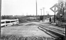"Photo 1869 New York ""Man Taking Photo by Railroad Grade Crossing"""