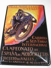 REF 505 Cartel Placa Metal 20X30CM 150gr - Moto Real CLUB CATALUÑA VALLES 1930