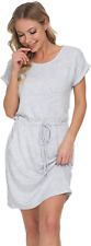 New listing Mnemo Women's Sports Dress Short Sleeves Summer Casual Dresses with Pockets Neck