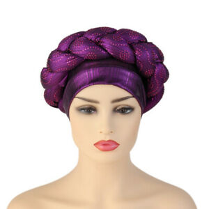 Fashion African Nigerian Bonnet Turban Cap Headtie Islamic Hat Shiny Diamond Hat