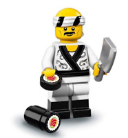 LEGO NEW NINJAGO MOVIE MINIFIGURE​​ SERIES 71019 SUSHI CHEF FIGURE WITH KNIFE