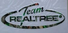 Team Realtree - Official Logo/Oval-Hardwood Green Hunting window decal sticker