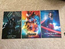 ARROW SUPERGIRL LEGENDS OF TOMORROW DC CW Tv Show 12x18 Original Poster Lot of 3
