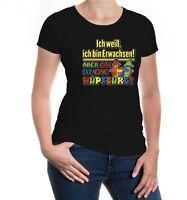 Damen Girlie T-Shirt Ich weiß ich bin Erwachsen! Aber das ist eine Hüpfburg!