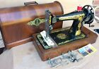 Singer 127K Antique hand crank sewing machine with Sphinx Egyptian Decals