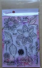 CRAFT BUDDY Forever Flowers PRETTY POINSETTIA A5 Clear stamp set FS06 18 Stamps